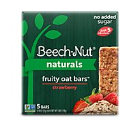 Beech Nut Naturals Fruity Oat Bars Stage 4 Strawberry - 5-0.78 Oz