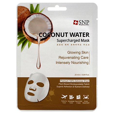 Snp Coconut Water Supercharged Mask - .84 Fl. Oz.