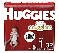 Huggies Little Snugglers Diapers Size 1 Jumbo - 32 Count