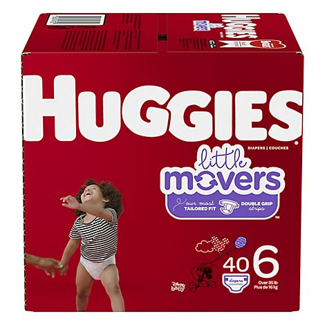 Huggies Little Movers Diapers Size 6 Big Pack - 40 Count