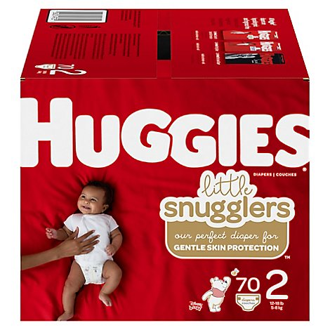 Huggies Little Snugglers Size 2 Big Pack 70 - 70 Count