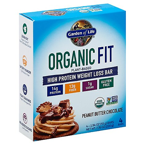Fit Bar - Peanut Butter Chocolate - 4 Count