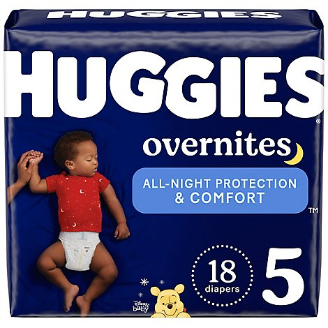 Huggies Overnite Diapers Size 5 Jumbo Pack - 18 Count
