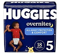 Huggies Overnite Nighttime Diapers Size 5 Jumbo Pack - 18 Count