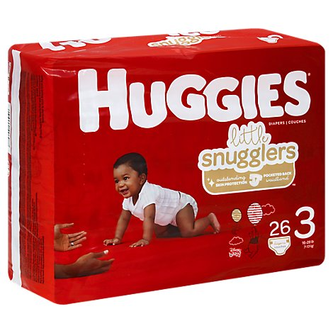 Huggies Little Snugglers Jumbo Pk Step 3 - 26 Count