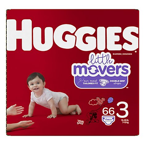 Huggies Little Movers Diapers Size 3 - 66 Count