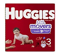 Huggies Little Movers Diapers Size 3 Big Pack - 66 Count