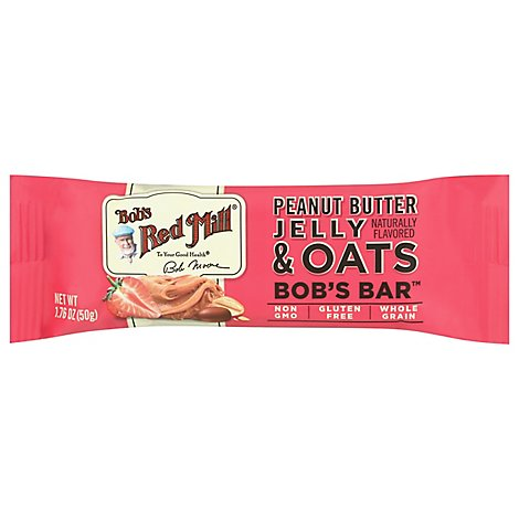 Bobs Red Mill Bobs Bar Peanut Butter Jelly & Oats - Each