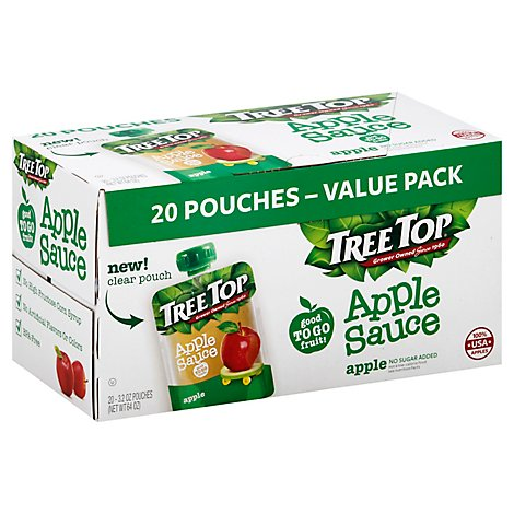 Tree Top Applesauce Pouch Apple - 12.8 Oz
