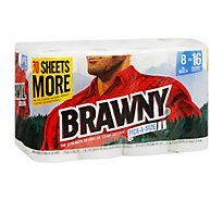Brawny Paper Towels White Pick-A-Size 8 Xl Rolls - 8 Roll