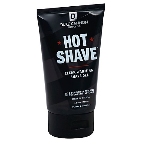 Duke Cannon Hot Shave Clear Warming Shave Gel - Each