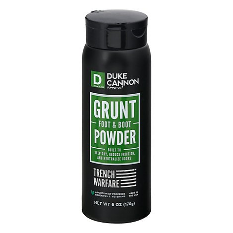 Duke Cannon Trench Warfare Grunt Powder Foot And Boot - Each