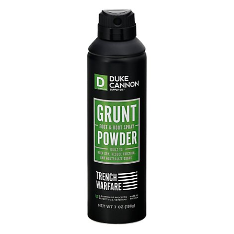 Duke Cannon Trench Warfare Grunt Foot And Boot Spray - Each