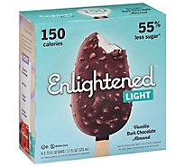 Enlightened Ice Cream Bars Light Vanilla Dark Chocolate Almond - 4-2.65 Fl. Oz.
