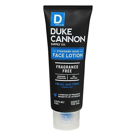 Duke Cannon Standard Issue Face Lotion - Each