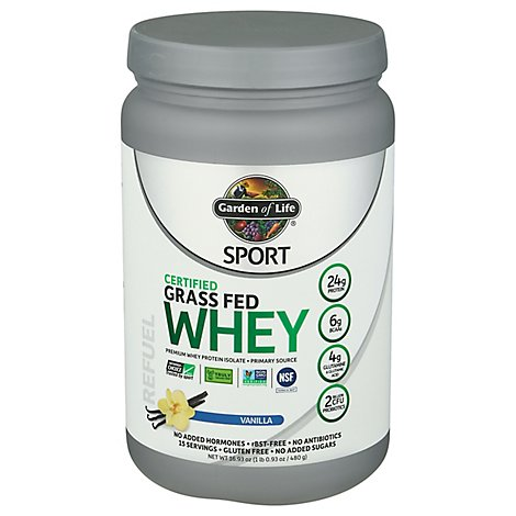 Sport Grass Fed Whey Vanilla - 16.93 Oz