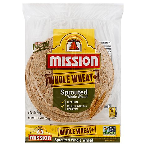Mission Sprouted Whole Wheat - 6 Count