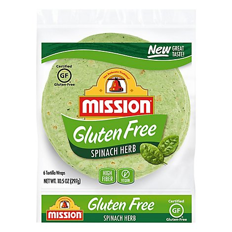Mission Gluten Free Spinach Tortilla - 6 Count