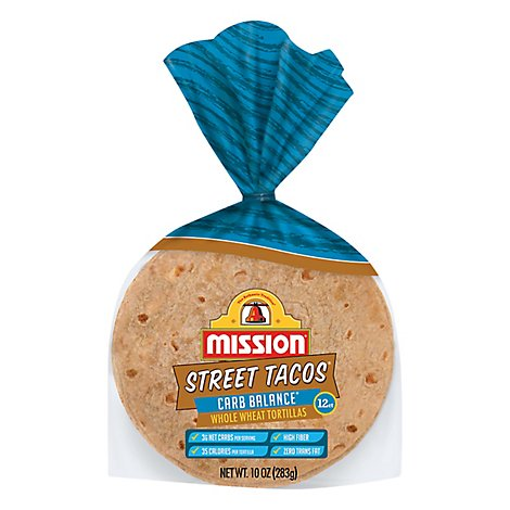 Mission Street Tacos Carb Balance Whole Wheat - 12 Count