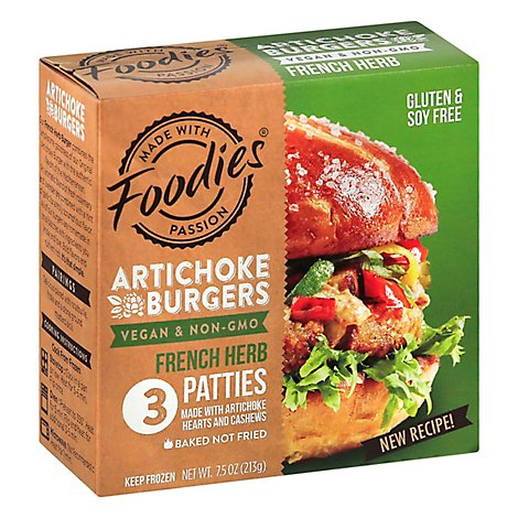 Foodies Burger Vgn Artchk Frn Spc - 7.5 Oz