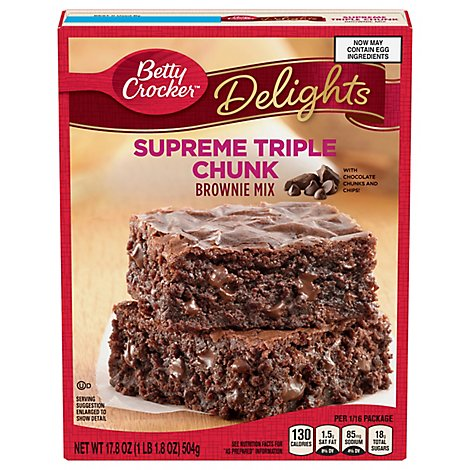 Supreme Brownie Mix Triple Choc Chunk - 17.8 Oz