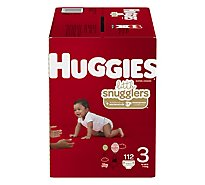 Huggies Little Snugglers Diapers Size 3 Giant Pack - 112 Count