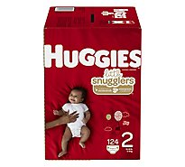 Huggies Little Snugglers Diapers Size 2 Giant - 124 Count