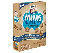 Lance Mini Whole Grain Peanut Butter Sandwich Crackers - 8.5 Oz