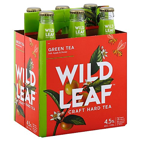 Wild Leaf Green Tea  W/Apple & Honey 6pk - 6-12 Fl. Oz.