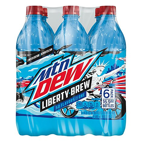 Mountain Dew Soda Liberty Brew - 6-16.9 Fl. Oz.