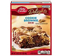 Betty Crocket Delights Bars Mix Cookie Brownie - 17.4 Oz
