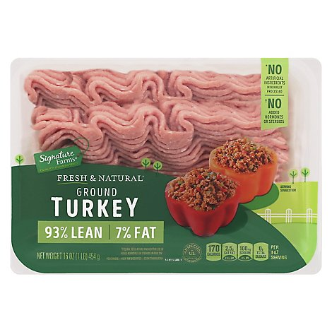 Signature Farms Turkey Ground - 16 Oz