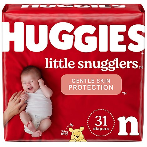Huggies Little Snugglers Diapers Newborn Jumbo Pack - 31 Count