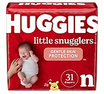 Huggies Little Snugglers Diapers Size Newborn - 31 Count