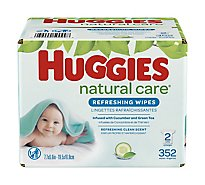 Huggies Refreshing Clean Baby Wipes Refill - 352 Count