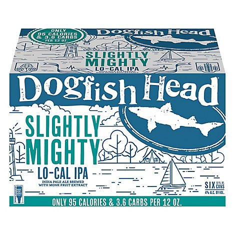 Dogfish Head Slightly Mighty Lo-Cal Ipa 6pk Cans - 6-12 Fl. Oz.