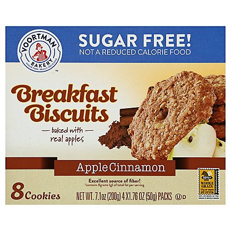 Voortman Bakery Sugar Free Breakfast Apple Cinnamon Sleeve - 7.1 Oz