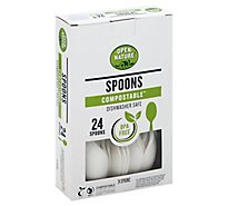 Open Nature Cutlery Spoons Compostable - 24 Count