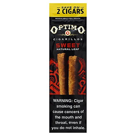 Optimo Cigarillos Sweet - 2 Count