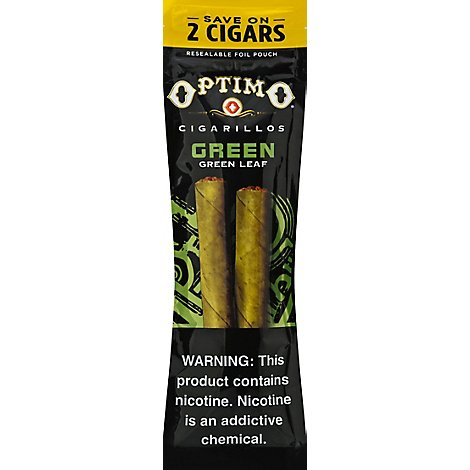 Optimo Cigarillos Green - 2 Count