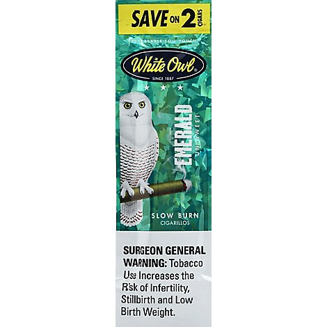 White Owl Cigarillos Emerald - 2 Count