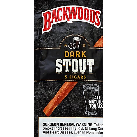 Backwoods Dark Stout Cigars - 5 Count