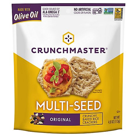 Crunchmaster Crackers Multi Seed Original - 4 Oz
