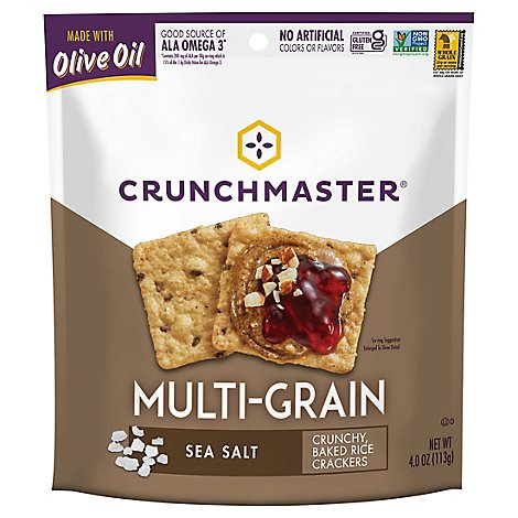 Crunchmaster Cracker Multi Grain Sea Salt - 4 Oz