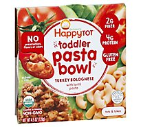 Happy Tot Stage 4 Turkey Bolognese Lentil Pasta Bowl Organic - 4.5 Oz