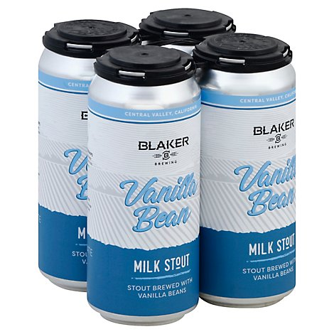 Blaker Brewing Vanilla Bean Milk Stout In Cans - 4-16 Fl. Oz.