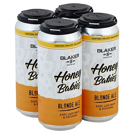 Blaker Brewing Honey Babies In Cans - 4-16 Fl. Oz.
