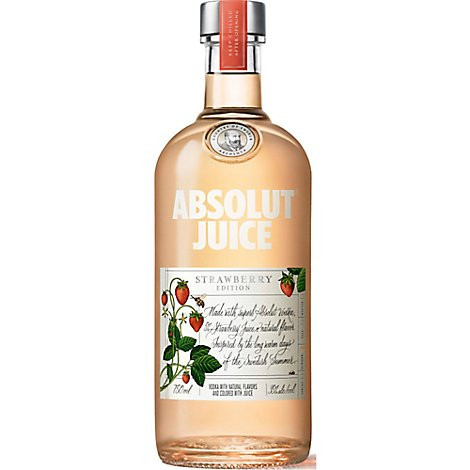 Absolut Juice Edition Strawberry 70 Proof - 750 Ml