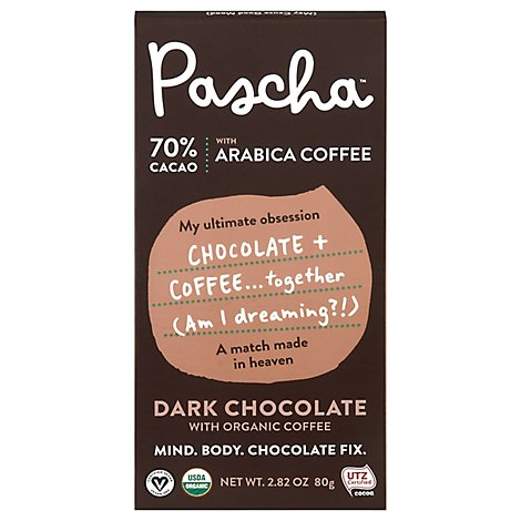 Pascha Choc Bar Drk Arbc Coffee - 2.82 Oz