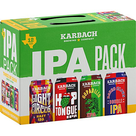 Karbach Ipa Sampler In Cans - 12-12 Fl. Oz.
